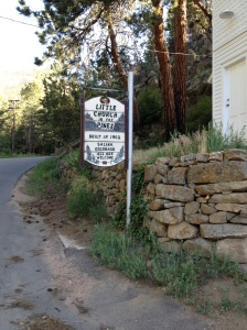 four mile canyon church sign