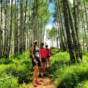 vail hike girls