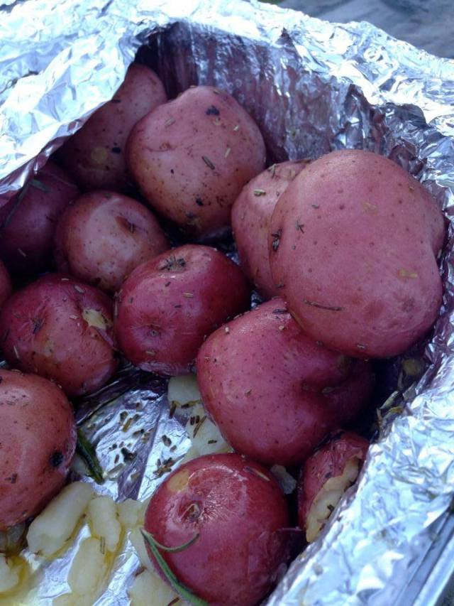 Awesome Idaho Potatoes at aid station.