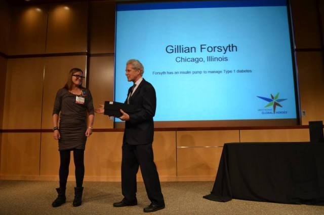 Getting my award!  I was so honored that I missed half the presentation!