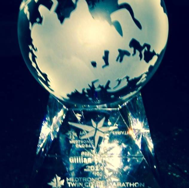 My beautiful crystal award.