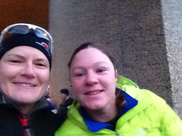Amanda and I waiting to go to our start corrals.